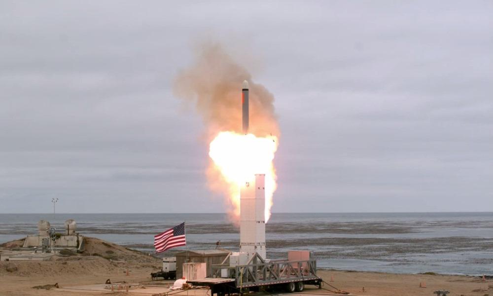 После выхода из Договора о ликвидации ракет средней и меньшей дальности США провели испытания баллистической ракеты наземного базирования, август 2019 года